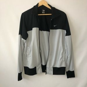 Nike Jacket Size Medium Black Grey